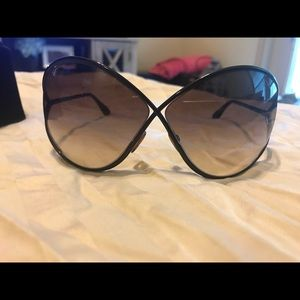 2621a2d4eed Tom Ford Accessories - Miranda 68mm Open Temple Oversize Metal Sunglasses